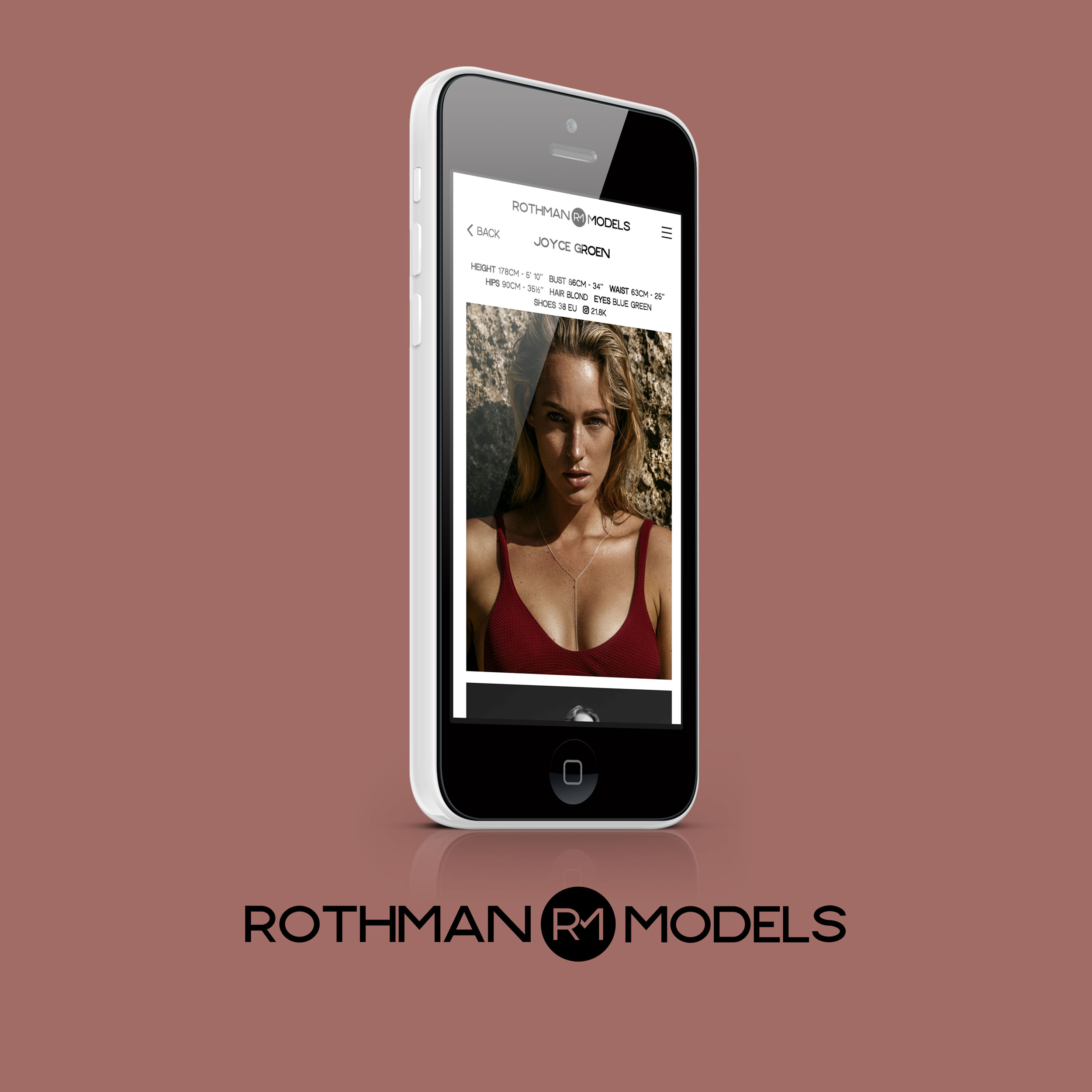 Rothman Models Webdesign selina creates portfolio Print Graphicdesign München